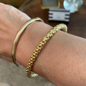 Brilliant Design Jewelry - Brushed Gold Bangle Bracelet Set!